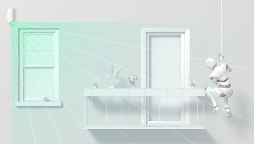 MotionProtect Curtain не допустит, чтобы к вам проникли через балкон или окно