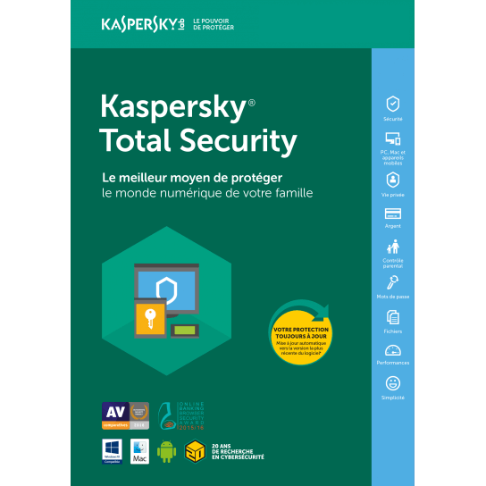Kaspersky Total Security. Multi-Device. Retail Pack. Продление (3 устройства, 1 год)