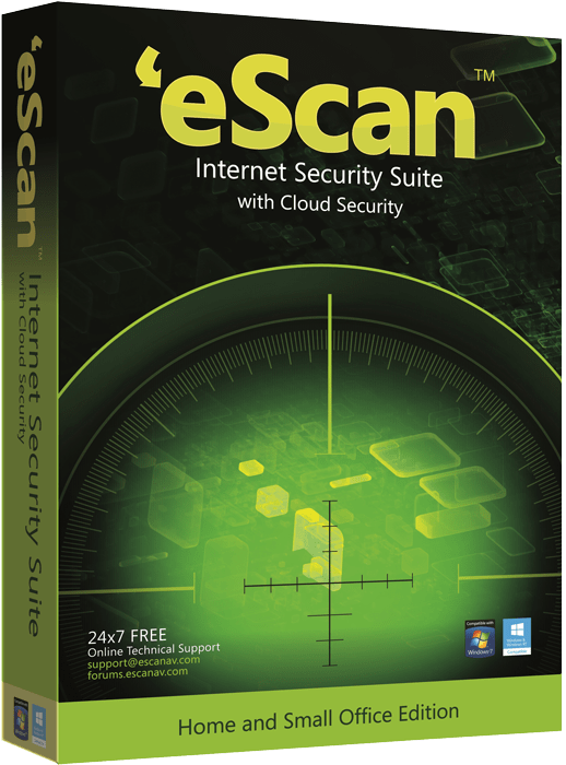 eScan Internet Security Suite with Cloud Security для дома и малого офиса (2 ПК, 1 год)